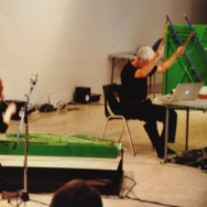 Andrew Schloss and Cathy Fern Lewis play the Trimpin Piano Sculptures, Mistic Concert at Open Space, April, 2012